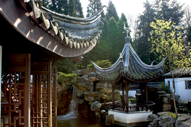 Einzigartiges Kleinod im Süden des Campus: der Chinesische Garten