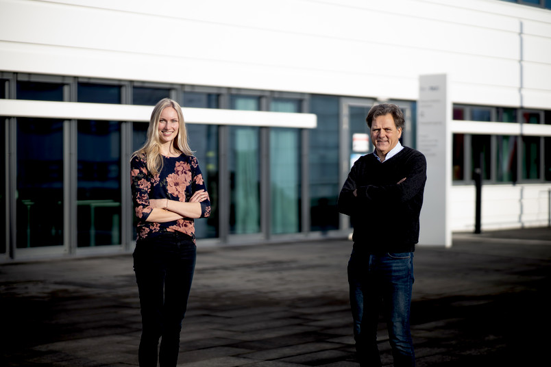 <div> Julia Stockmann und Klaus Gerwert vom Bochumer Zentrum für Proteindiagnostik</div>