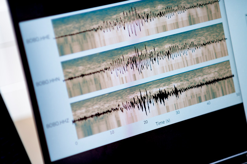 Computergrafik seismischer Aktivität