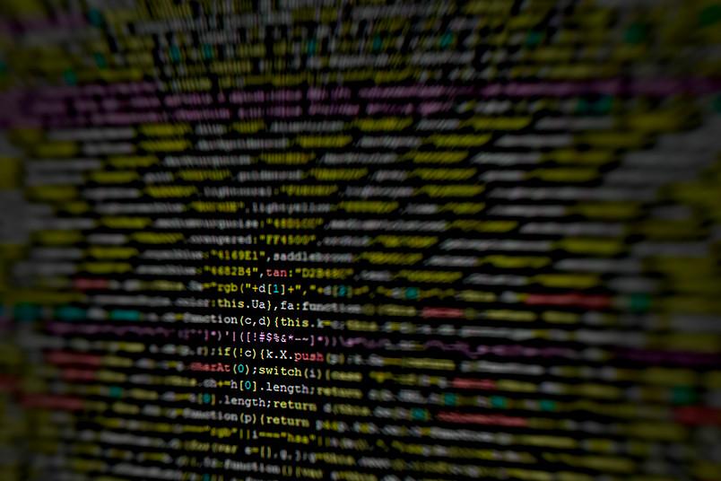 Viele Zeilen Programmiercode, die für einen Laien undurchsichtig sind