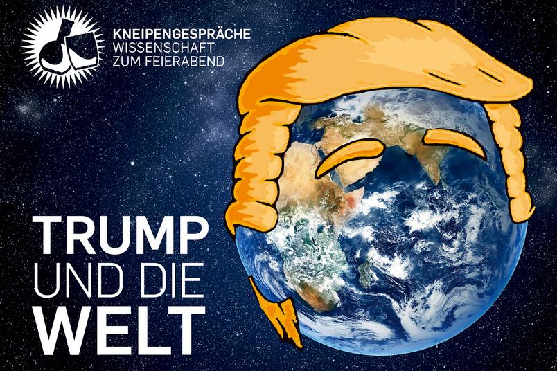 Weltkugel mit Trump-Frisur