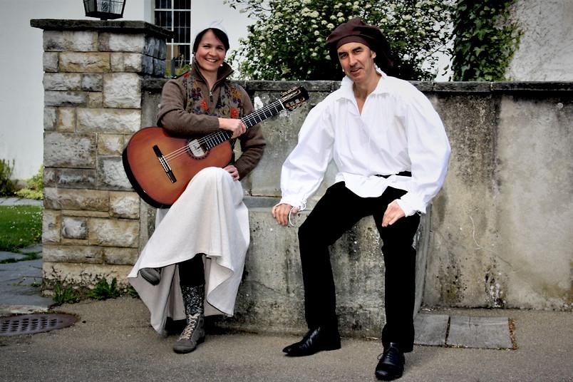 """<div> Les Deux präsentieren ihr Programm """"Martin – ein Lutherleben"""".</div>"""