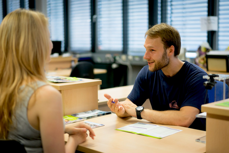 Gesprächssituation in der Studienberatung