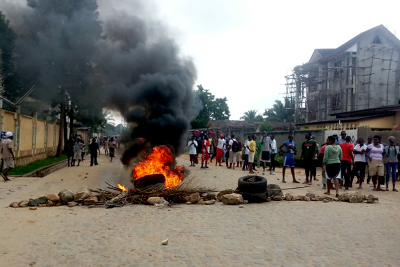 Demonstranten in Burundi