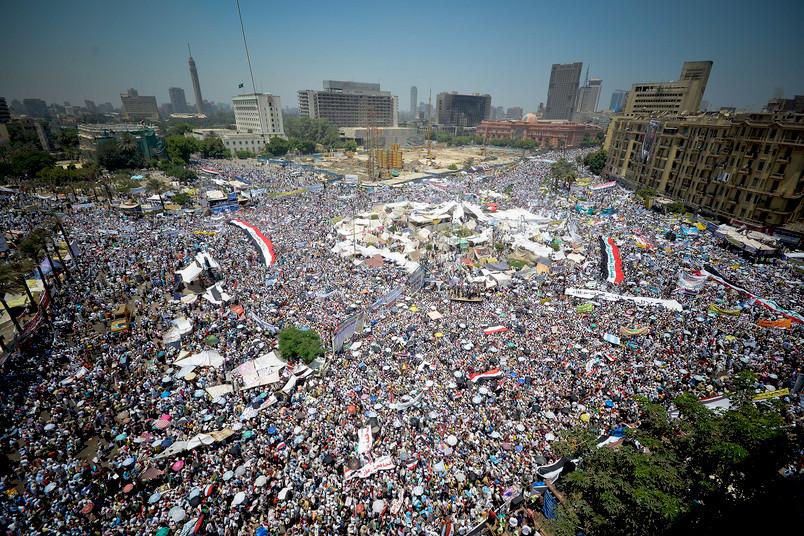 Der Arabische Frühling in Ägypten: Massendemonstrationen auf dem Tahrir-Platz in Kairo im Jahr 2011