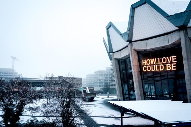 Audimax im Schnee