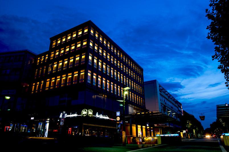 Bochumer Innenstadt am Abend