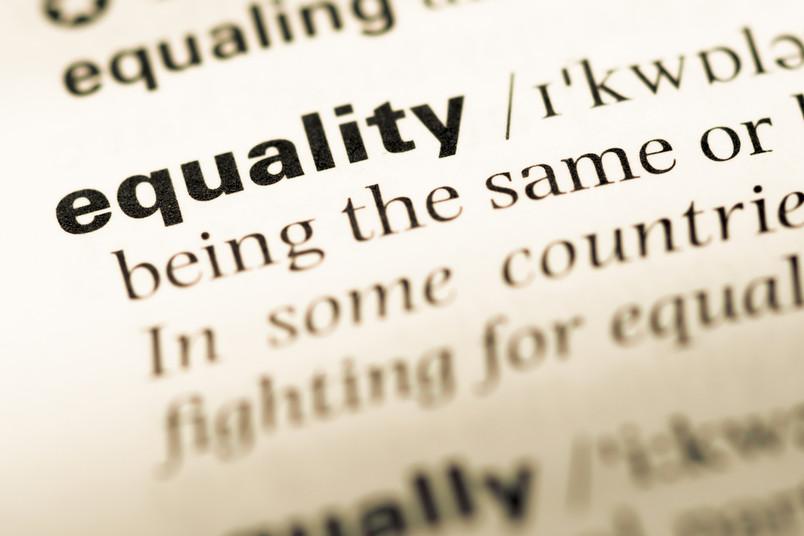 In einem aufgeschlagenen Wörtbuch ist der englische Begriff Equality hervorgehoben