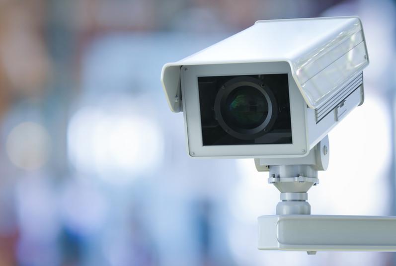 Überwachungskamera im öffentlichen Raum
