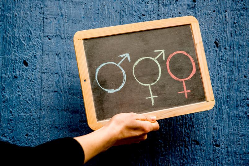 Tafel mit Geschlechtersymbolen