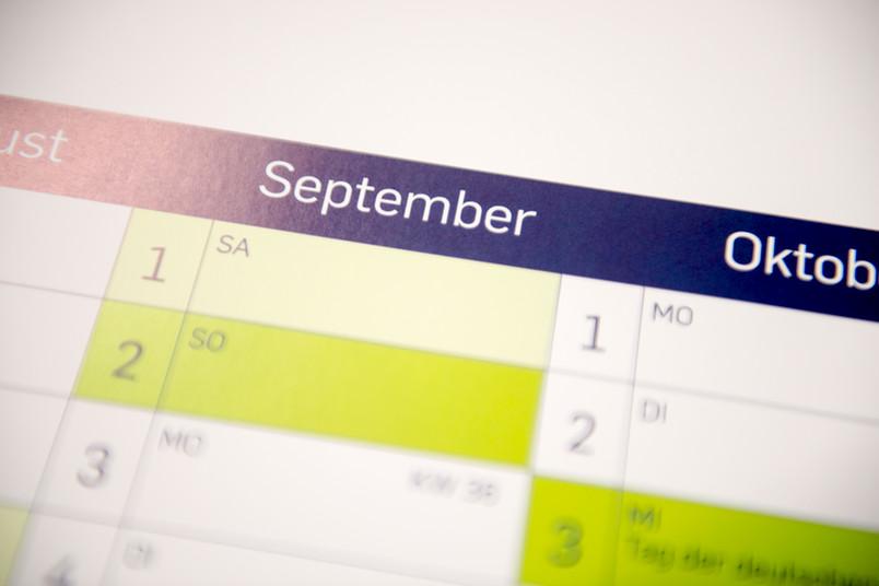 Kalenderbild mit dem Monat September