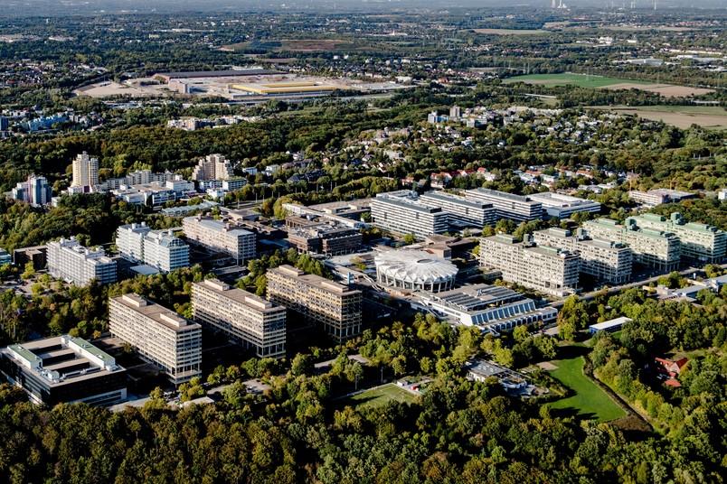 Luftbild vom Campus der RUB