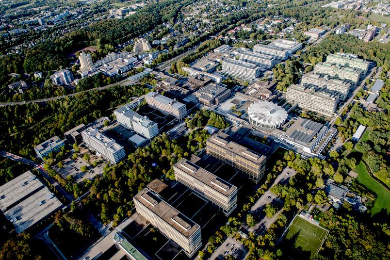 Luftbild des Campus der RUB