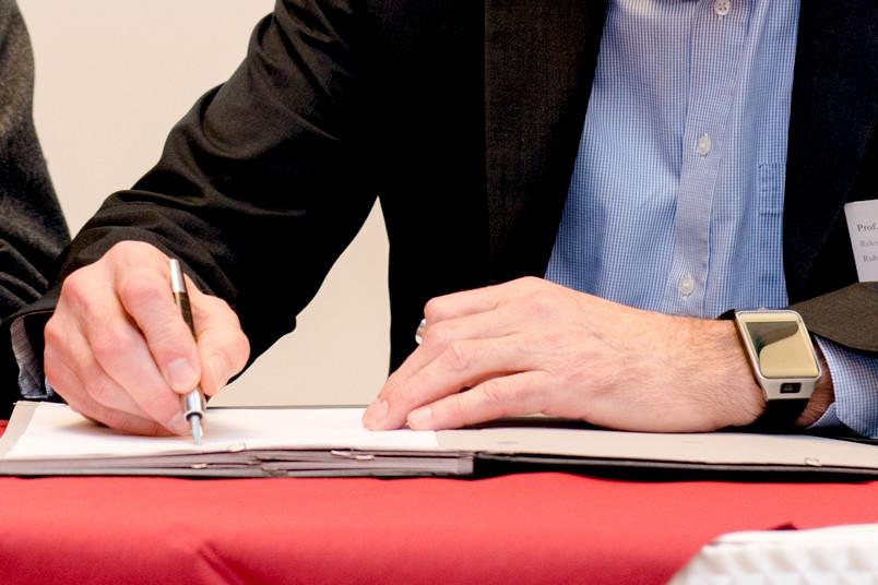 Stellvertreterbild für Unterschrift des Rektors der RUB