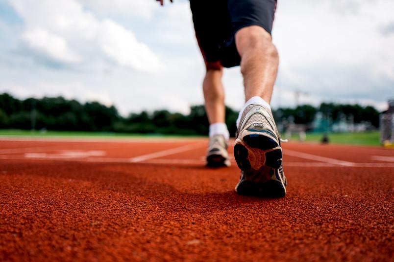 Läufer startet