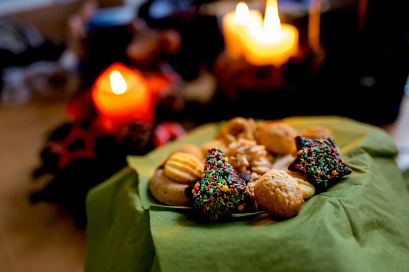 Kekse und Kerzen
