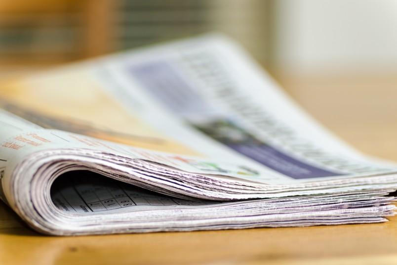 Symbolbild mit Zeitung