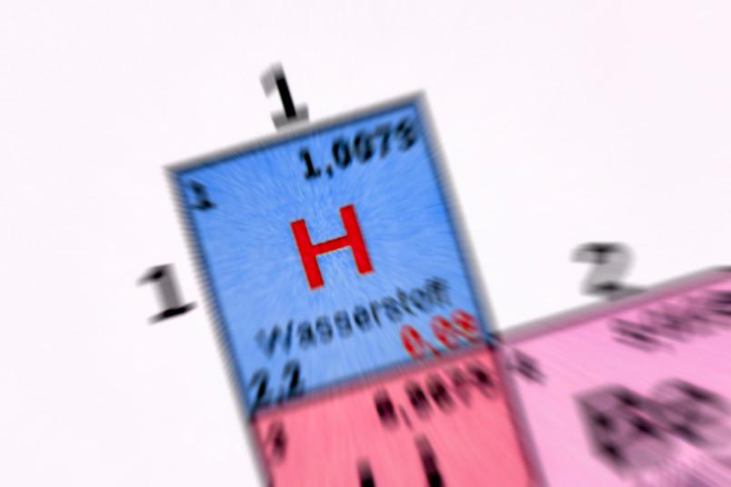 Periodensystem mit Fokus auf Wasserstoff