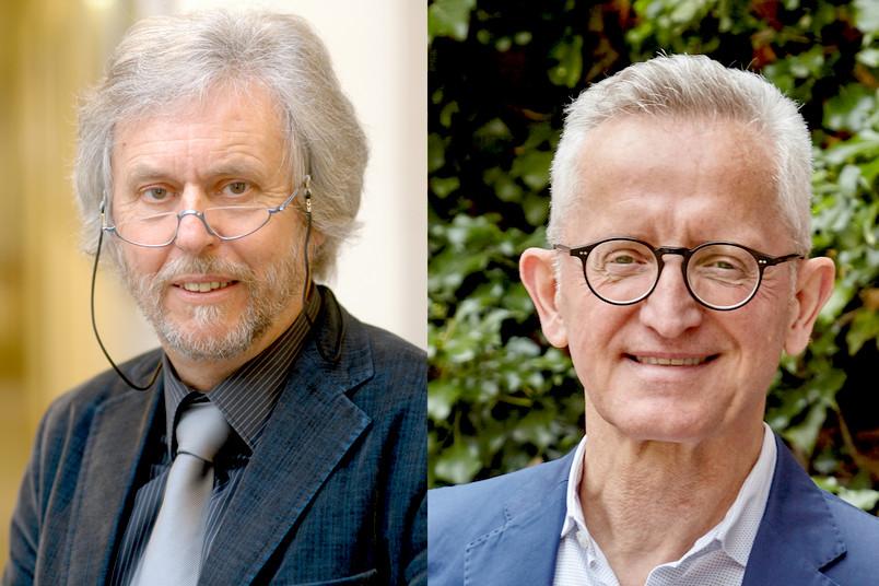 Reto Weiler (links) und Heinrich Baßler komplettieren als neue Mitglieder den Hochschulrat der RUB.